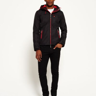 LBASUP11_SUPERDRY_Men's_Hooded_Windtrekker_Black_Main