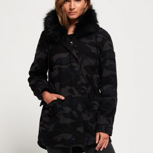LBASUP14_SUPERDRY_Women's_Rookie_Hawk_Parka_Navy_Front