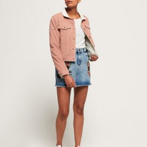 LBASUP17_SUPERDRY_Women's_Cord_Girlfriend_Borg_Jacket_Pink_Main