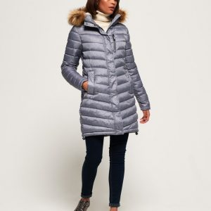 LBASUP7_SUPERDRY_Women's_Chevron_Faux_Fur_Super_Fuji_Charcoal_Main
